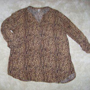 Grand & Greene leopard 3/4 sleeve shirt XL